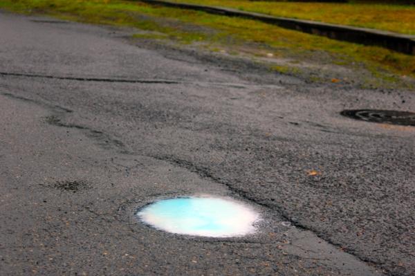 little blue puddle