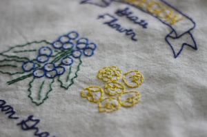 oregon grape embroidery