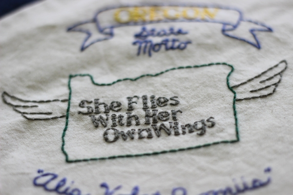 oregon state motto embrodery