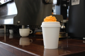 coffee cup frosting flower