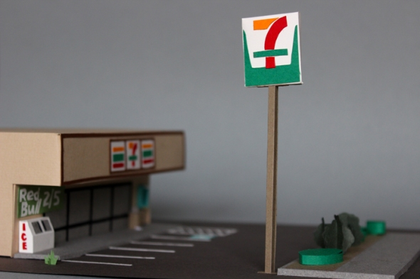 7-11 tall sign