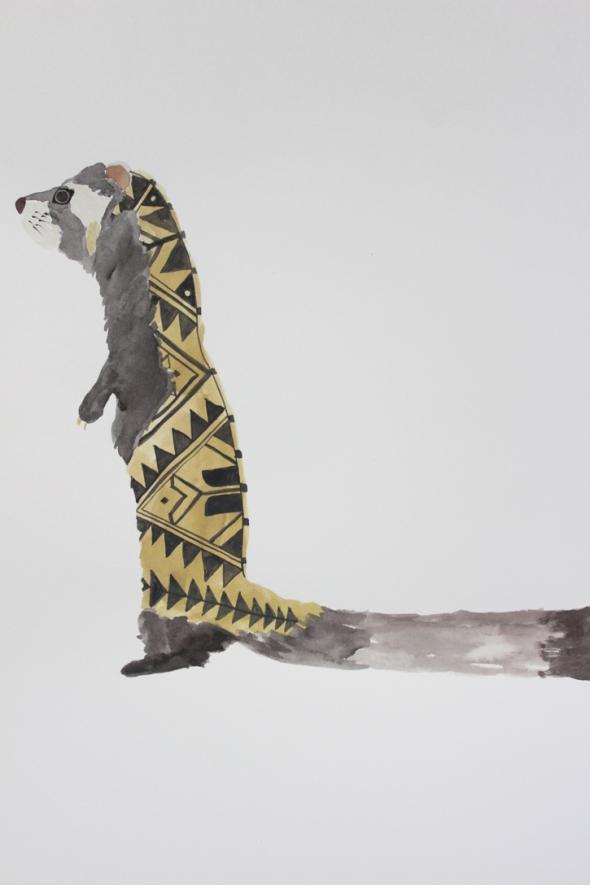 marbled polecat