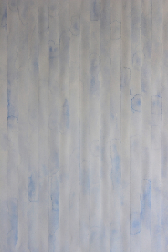blue watercolor stripes wallpaper