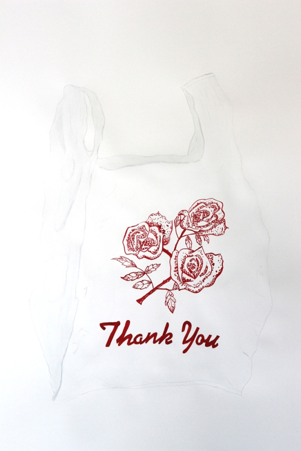 roses thank you bag