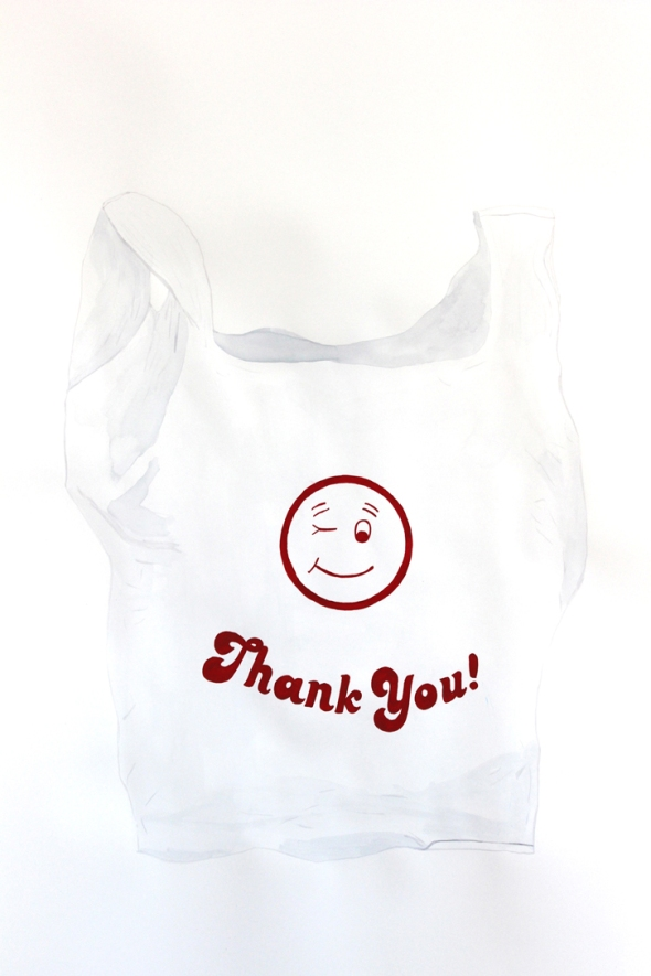 winking thank you bag