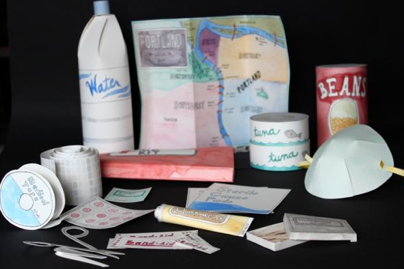 paper emergency preparedness kit
