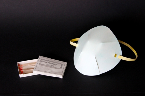 paper waterproof matches and dust mask