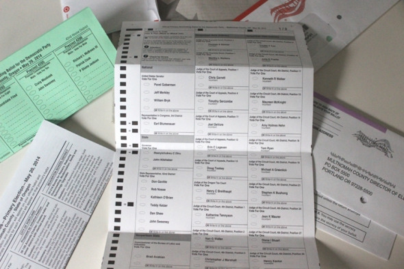 oregon primary ballot