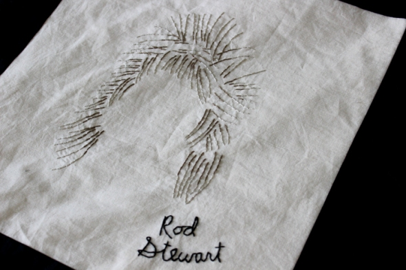 rod stewart hair embroidery