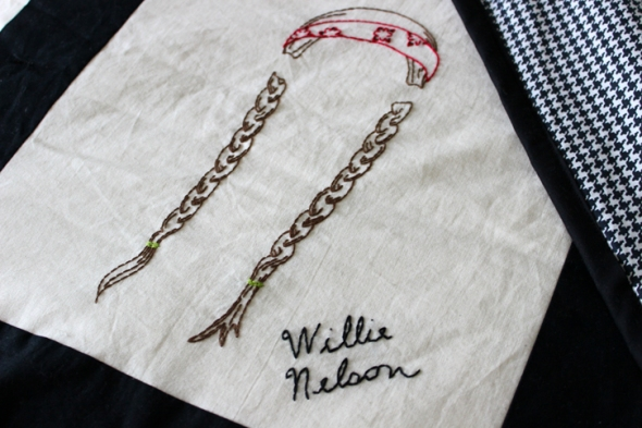 willie nelson embroidery