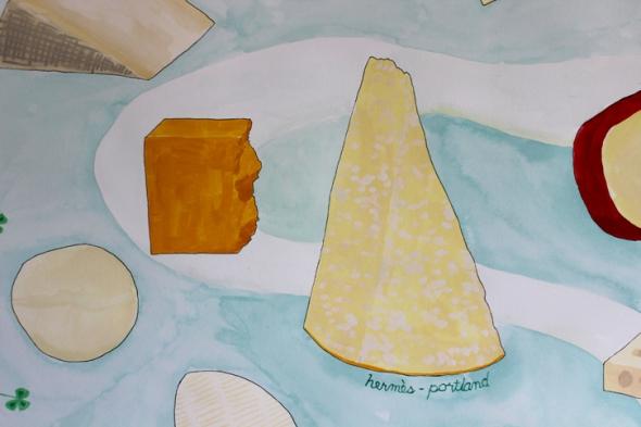 hermès cheddar and parmigiano reggiano