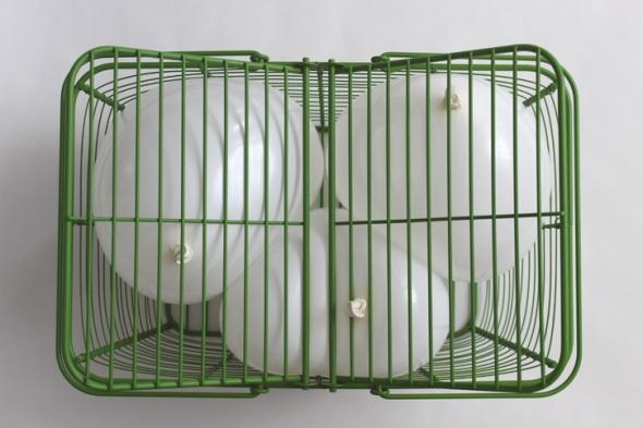 green basket balloons