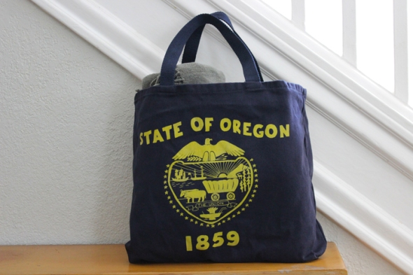 oregon flag tote