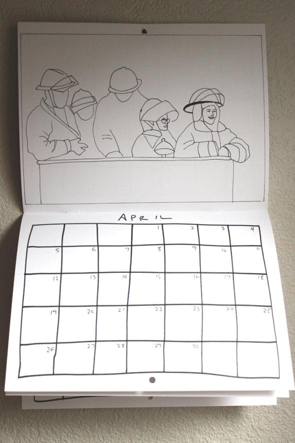 april coloring calendar