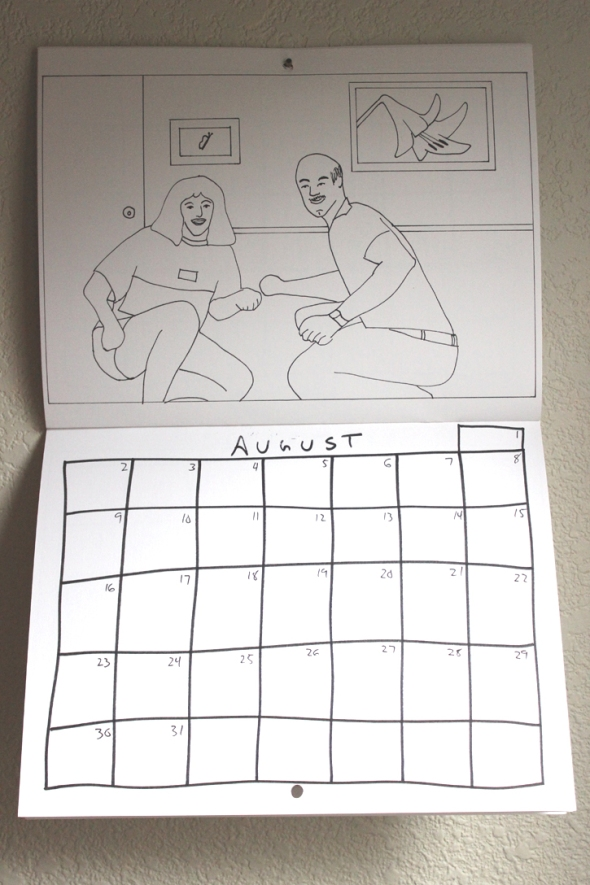 august coloring calendar