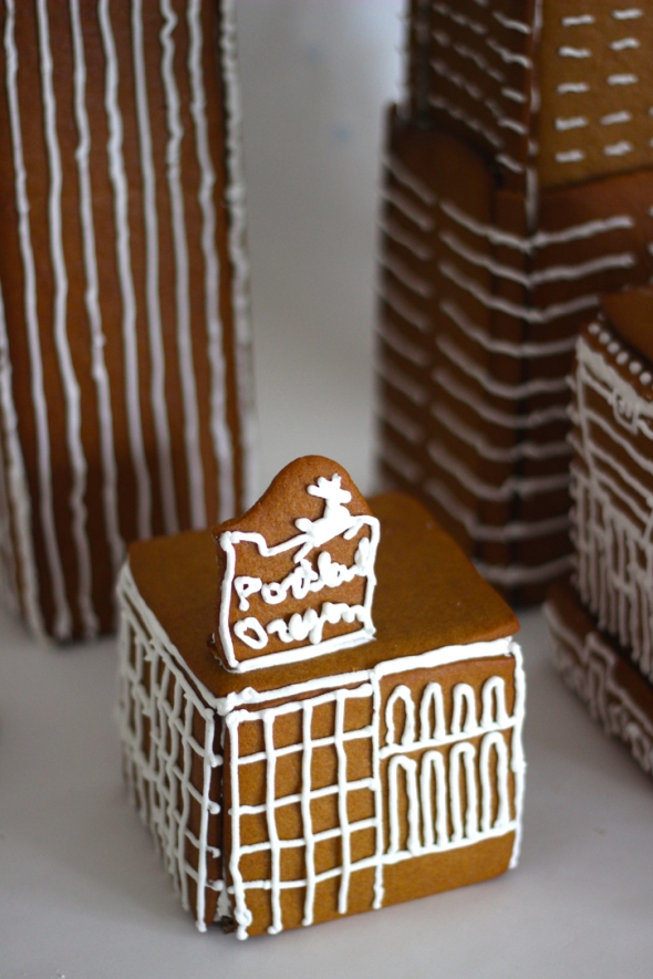gingerbread white stag building