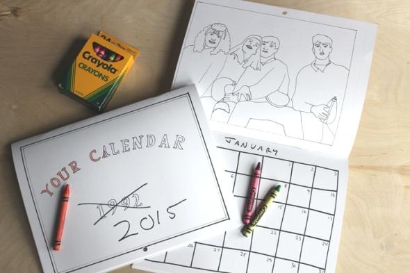 january coloring calendar
