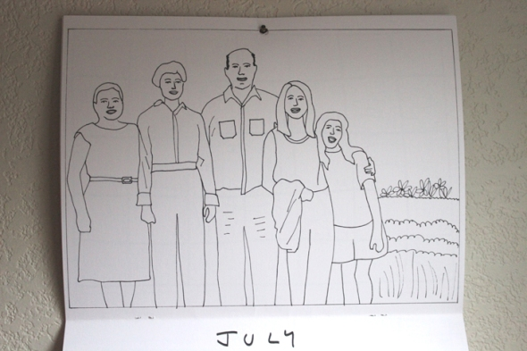 july coloring calendar