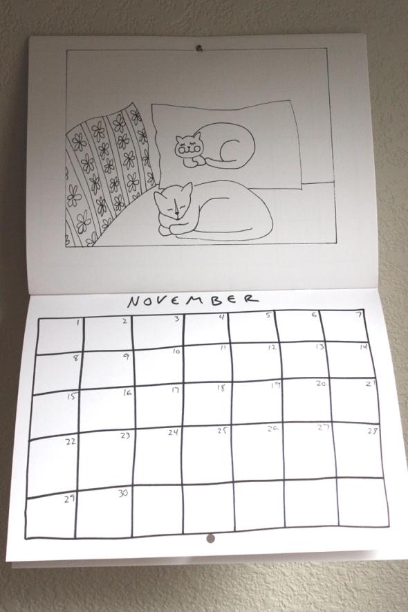 november coloring calendar