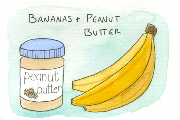 bananas and peanut butter