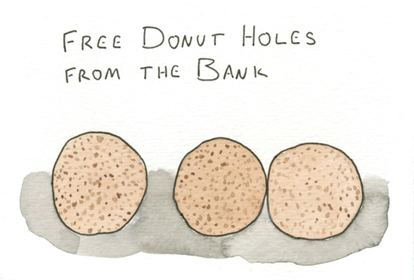 donut holes from the bank