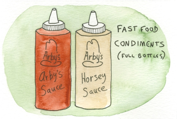 fast food condiments