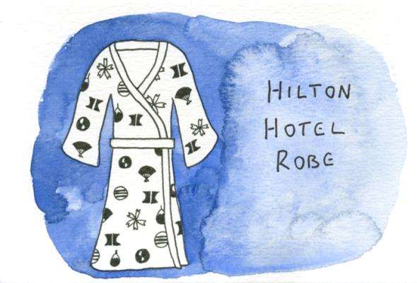 hilton hotel robe