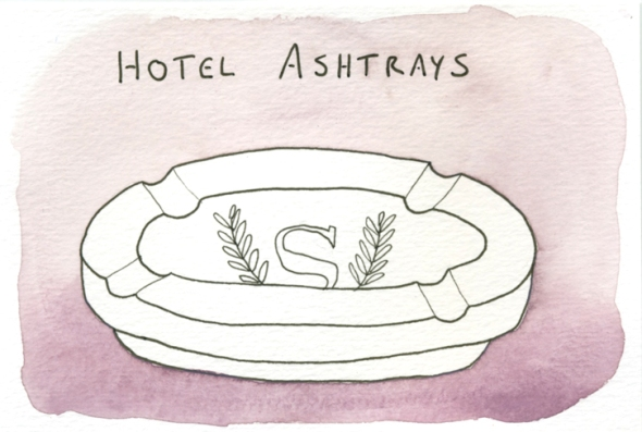 hotel ashtrays