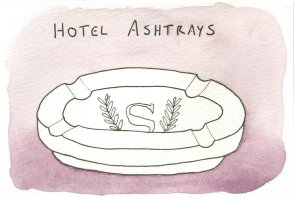 hotel ashtrays