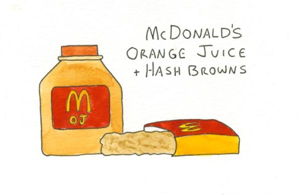 mcdonalds orange juice and hash browns