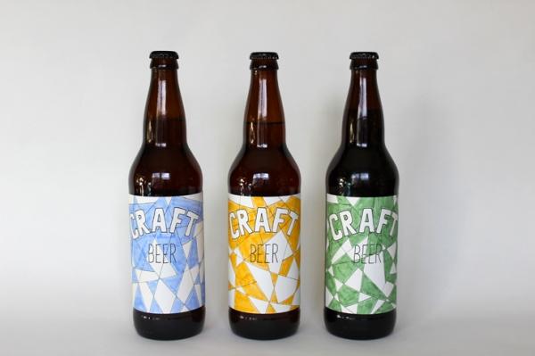 origami beer labels