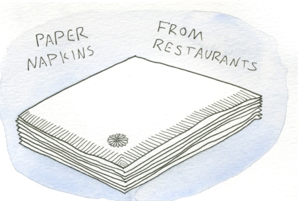 paper napkins from restaurants