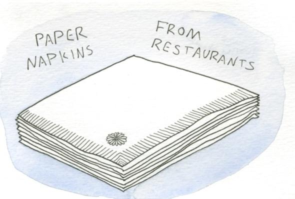 paper napkins from restaurants