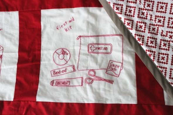 emergency preparedness quilt first aid kit