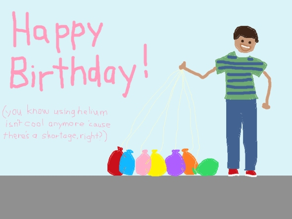 happy birthday ms paint greeting card