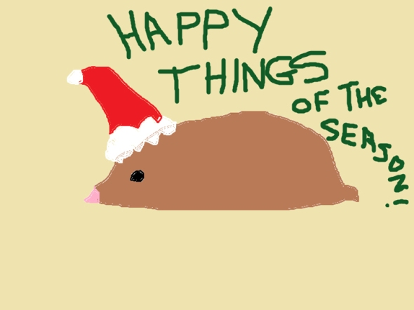 happy things of the season ms paint greeting card