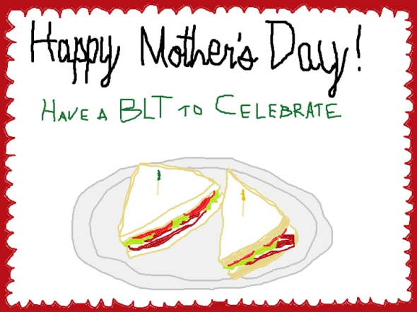 happy mother's day ms paint greeting card