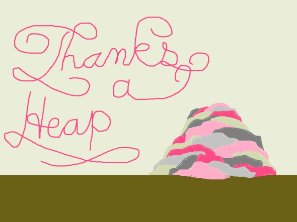 thanks a heap ms paint greeting card