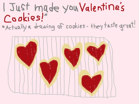 valentine's ms paint greeting card