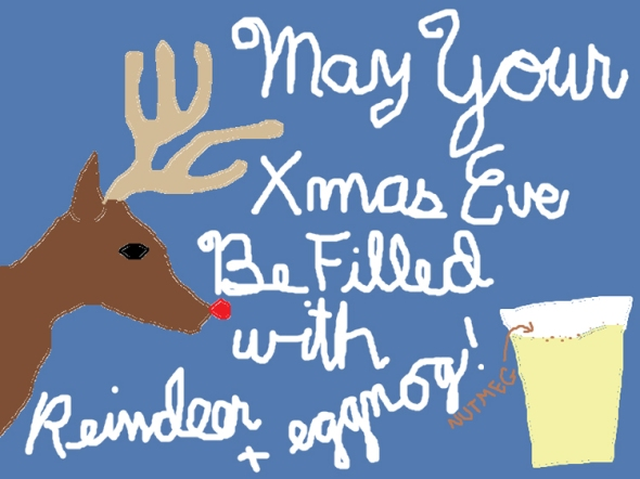 xmas eve ms paint greeting card