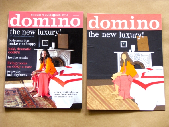 domino magazine paper cuts