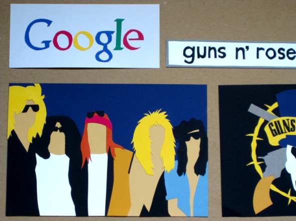 guns n' roses google paper cuts