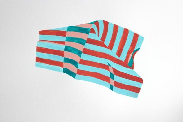 big stripes crumple painting