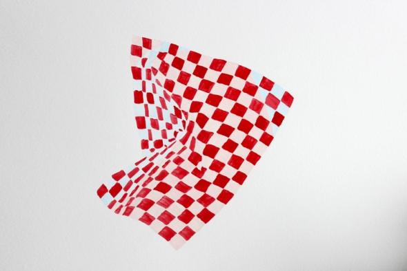 squares crumple painting