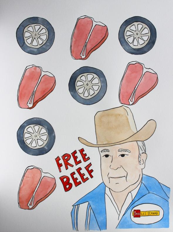 les schwab free beef