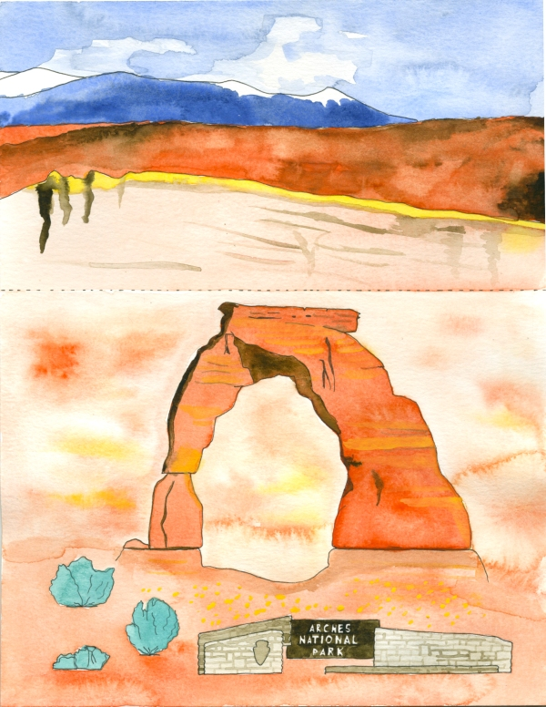Arches National Park mini poster