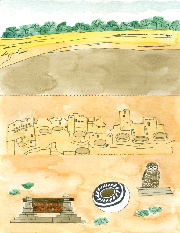 Mesa Verde National Park mini poster