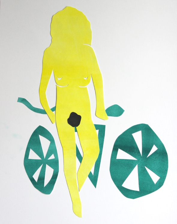 matisse centerfold with bicycle