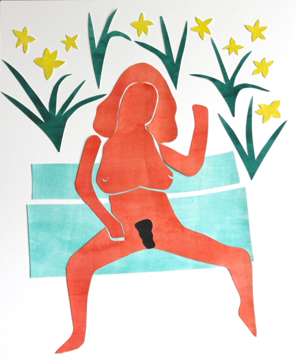 matisse centerfold with daffodils