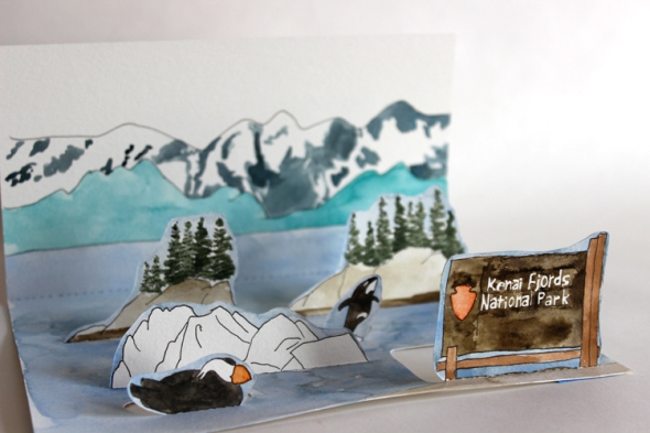 Kenai Fjords mini poster
